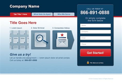 ppc landing page template landing page templates http webdesign14