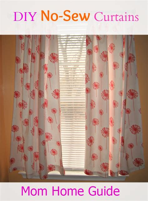 sewing curtains instructions no sew diy curtains