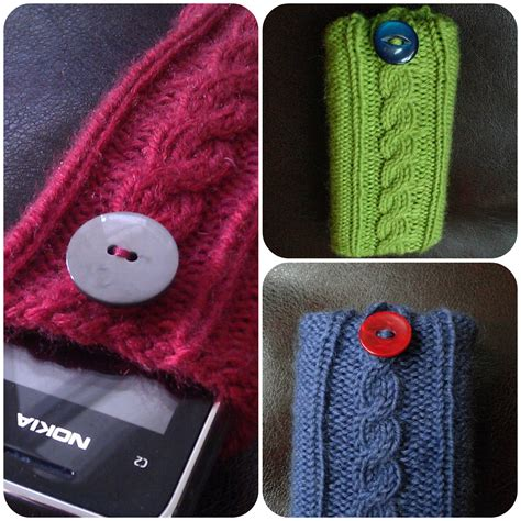 rachael kayfree knitting pattern mobile phone cover