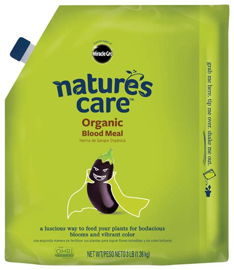 natures care organic blood meal plant food