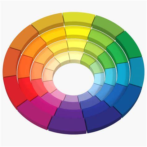 3d color 3d color wheel model