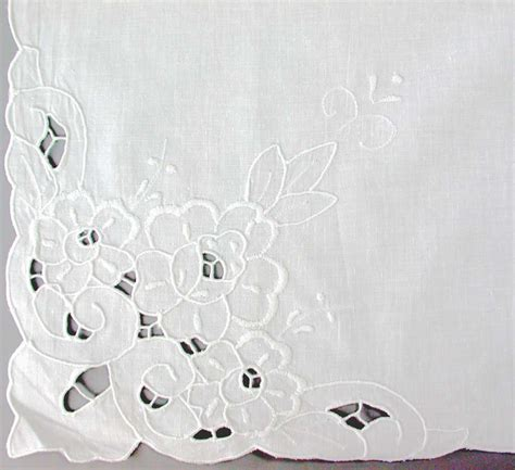 cutwork embroidered table linens cutwork tablecloths the lace and linens co