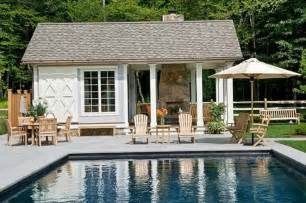 Small Pool Houses follow your home s architecture your pool house doesn t have to