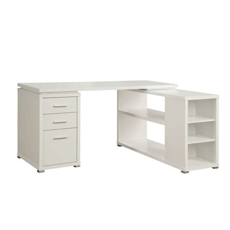 l shaped computer desk white coaster yvette l shaped computer desk in white 800516