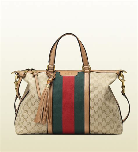 Gucci Handbag by Gucci Rania Top Handle Original Gg Canvas Top Handle Bag