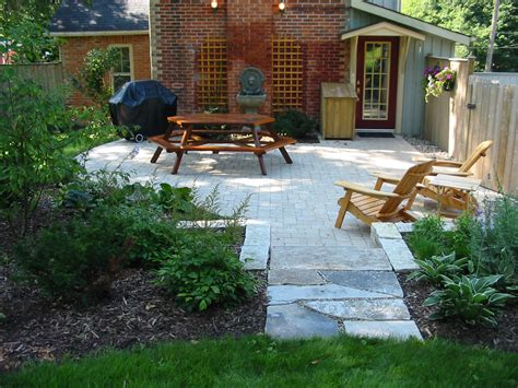patios design patio walkway cobble stone robin aggus natural landscaping