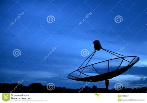 big satellite big black satellite stock photography image 19509512