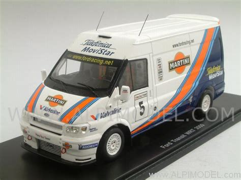 Transit Styling - spark model ford transit wrt 2000 martini racing 1 43 scale model
