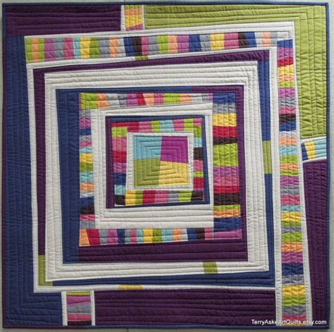 Modern Quilt Wall Hanging by Improv Modern Quilt Wall Hanging 34 Quot X 34 Quot Quilt
