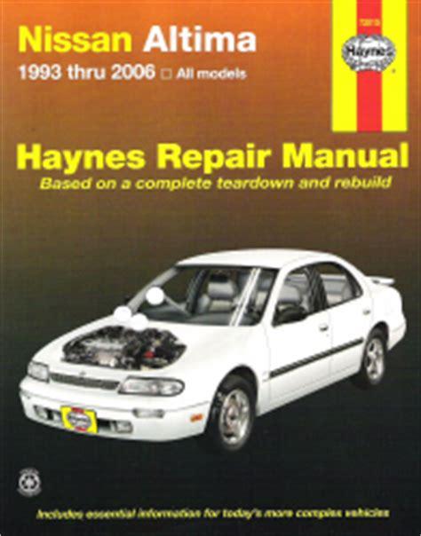 online car repair manuals free 2012 nissan altima parental controls 1993 2006 nissan altima haynes repair manual