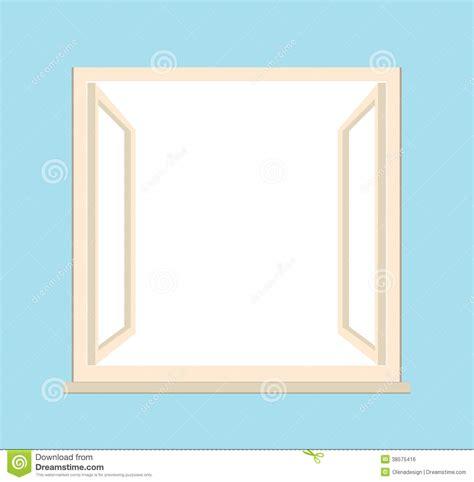 fl gelfenster offenes fenster illustration lizenzfreies stockbild