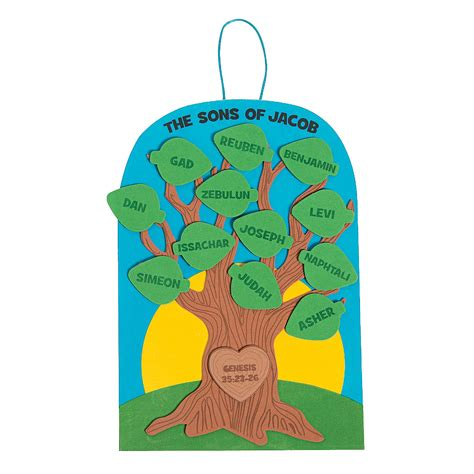 family tree craft project sons of jacob family tree craft kit decoration crafts