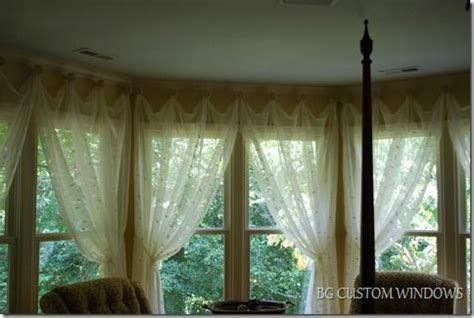 sheer curtains for bay window creative way to hang curtains in a bay window curtains