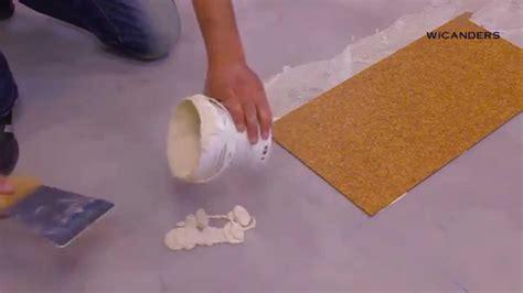 how to install wicanders glue down cork flooring youtube