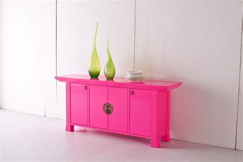 sideboard pink illumina neon pink contemporary orient inspired sideboard