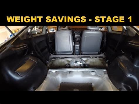 Auto Gewicht by Car Weight Removal Acura Integra Stage 1