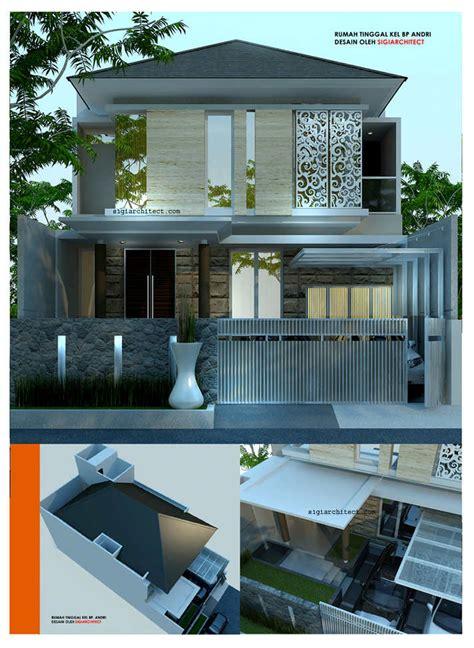 desain rumah modern minimalis  lantai