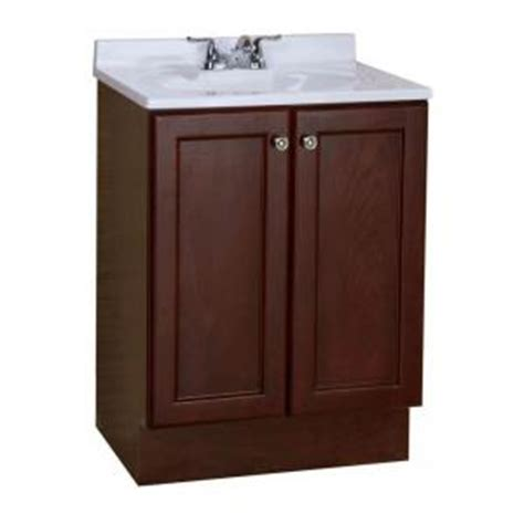 glacier bay all in one 24 in w vanity combo in chestnut