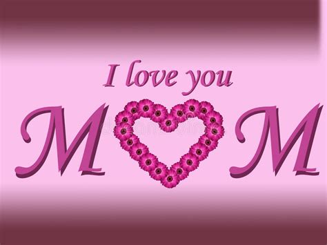 imagenes de i love you mom i love you mom text mother s day card with daisy heart and