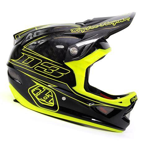 troy lee design mtb helm troy lee designs d3 pinstripe yellow carbon mountain bike