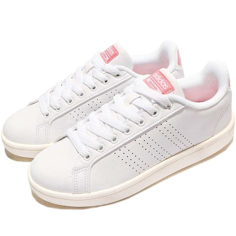 Adidas Advantage White Pink Made In Indonesia Original adidas cloudfoam advantage clean neo white pink womens