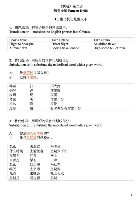 pattern drills in language teaching pattern drills sle huanying