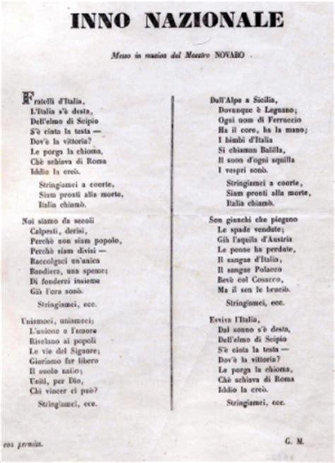 la italia testo canti risorgimento