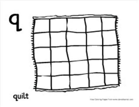 Q For Quilt Coloring Page by Letter Q Writing And Coloring Sheet