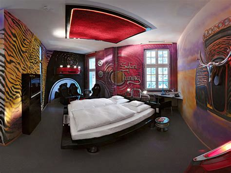 car themed home decor amazing car themed rooms of v8 hotel germany