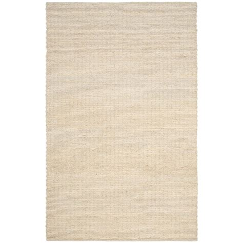 8 X 8 Area Rugs Safavieh Fiber Ivory 8 Ft X 10 Ft Area Rug Nf750a 8 The Home Depot