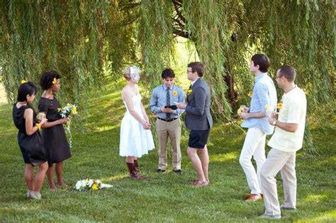 Backyard Wedding Groomsmen Outdoor Willow Tree Wedding My Imaginary Wedding