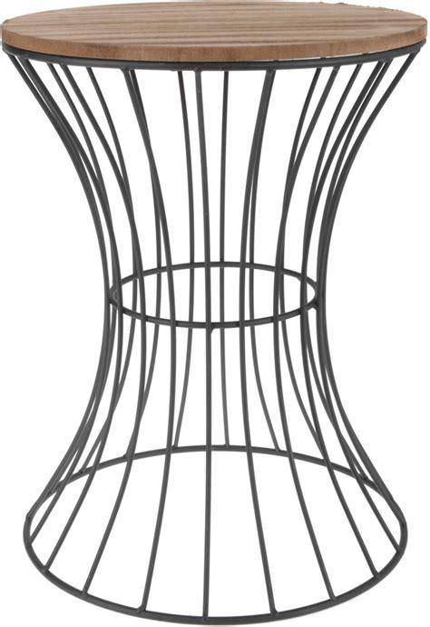 nachttisch korb holz beistelltisch metall in 2 gr 246 223 en deko tisch