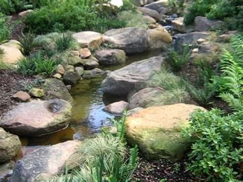 building a backyard stream how to build a stream to look natural youtube