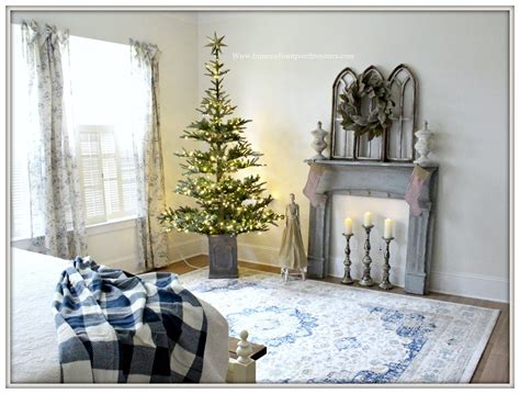 tree in bedroom from my front porch to yours french country farmhouse christmas bedroom