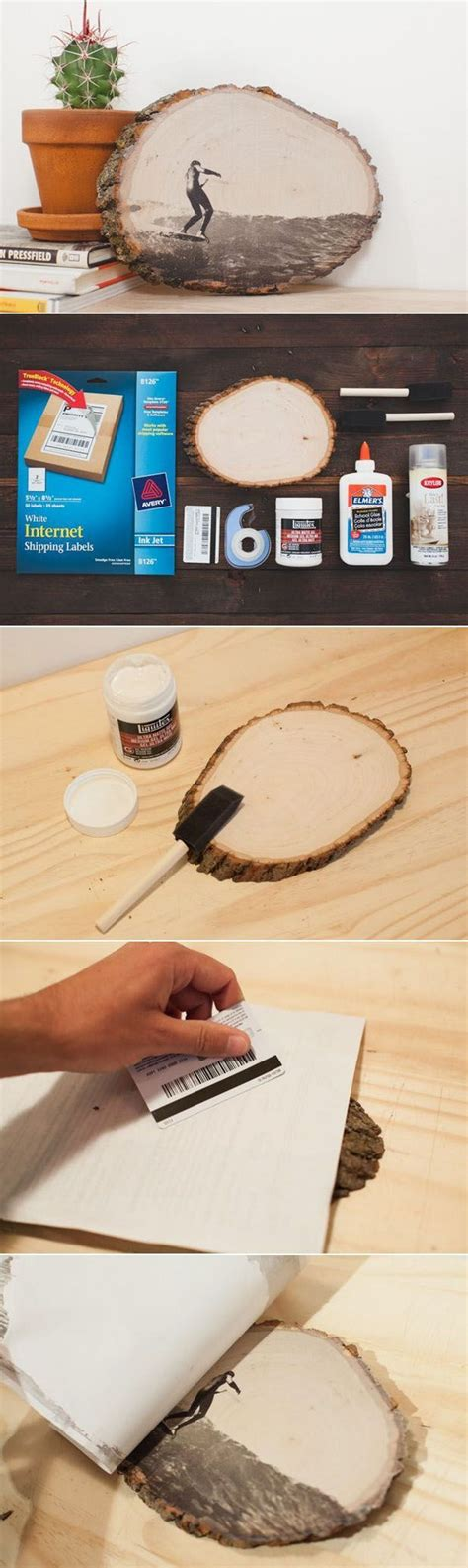 tattoo paper to wood 20 diy photo gift ideas tutorials styletic