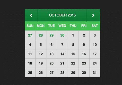 Best Calendar Widget Best Free Html Css3 Calendar Widget Templates Web Net