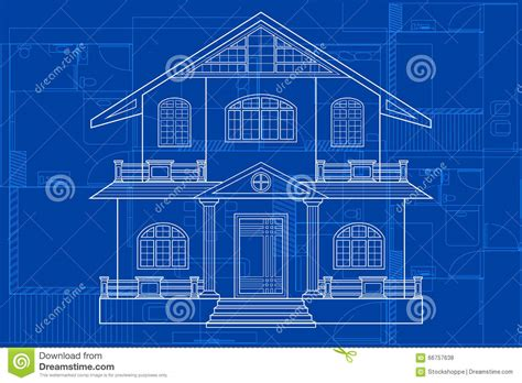 blueprints of buildings blueprint of building stock vector image 66757638