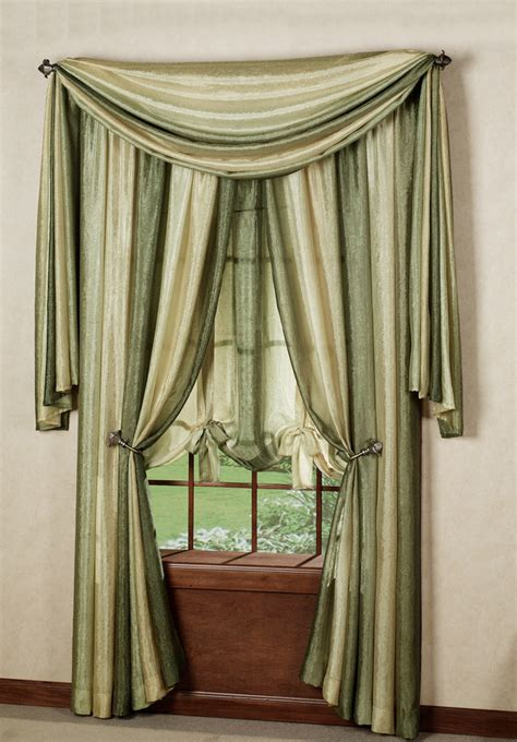 sage sheer curtains ombre window treatments sage achim contemporary