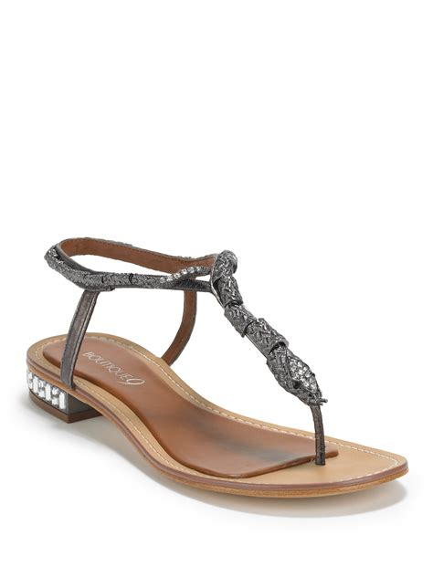boutique 9 sandals boutique 9 barbiera snake sandals in gray lyst