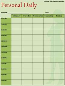 daily weekly schedule template selimtd