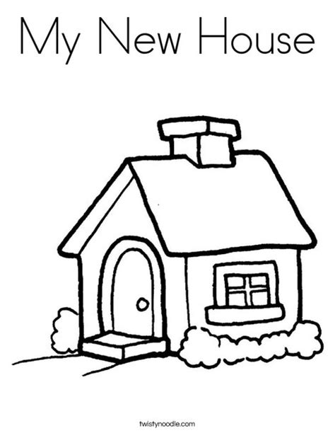 how to color a house my new house coloring page twisty noodle