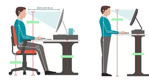 optimal standing desk height the proper height of a standing desk notsitting com