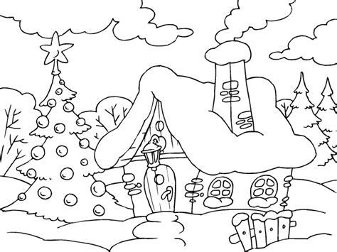 imagenes de navidad niños casa en navidad para imprimir paracolorear net