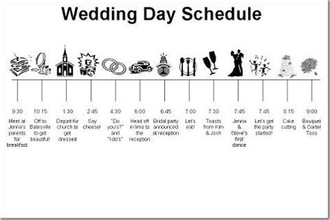 wedding day schedule of events template wedding reception timeline wedding reception timeline b