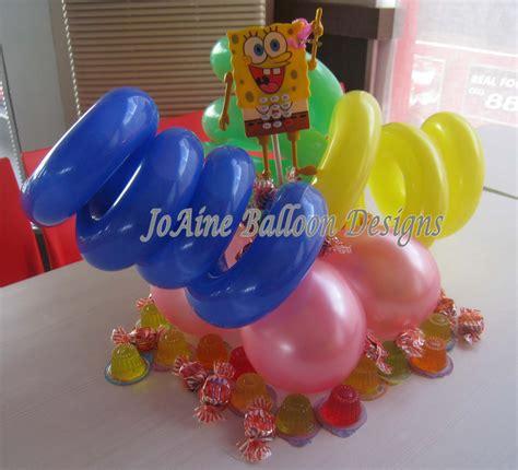 spongebob centerpiece decorations balloon centerpiece joaine balloon designs