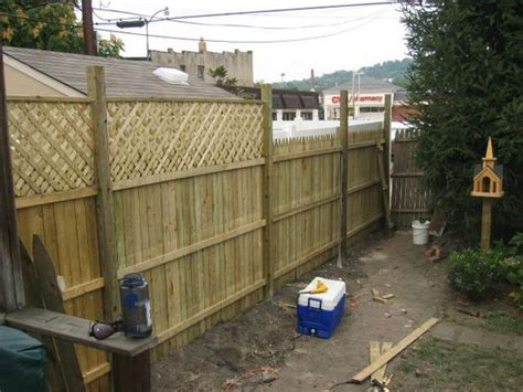 how to add privacy to backyard adding lattice to the top of fencing to create extra