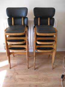 vintage padded stacking chairs antiques atlas retro 1950s diner stacking chairs