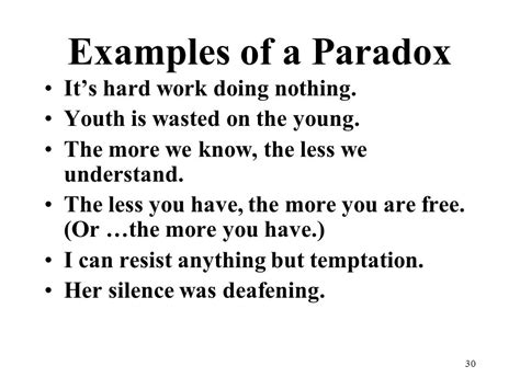 exle of paradox poetry terms exles ppt