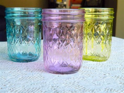 how to color jars colored glass jars