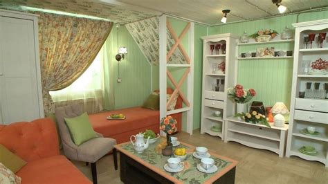 Sleeping In Living Room Cozy Provence Style Living Room In Mint And Coral Home